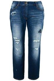 Boyfriend-Jeans, Strassflicken, Destroy-Look, 5-Pocket-Modell
