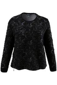 Sweatshirt, 3D-Struktur, seitliche Reißverschlüsse