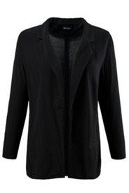 Bluse, offenes Model, Blazer-Form, Nahttaschen