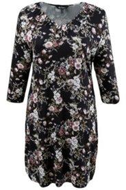 Kleid, geraffter V-Ausschnitt, körpernahe Form