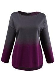 Pullover, U-Boot-Ausschnitt, oversized, Farbverlauf