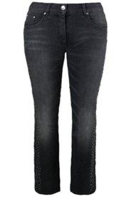 Jeans, Strass, schmales Bein, 5-Pocket-Form