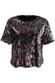 Shirt, komplett mit Pailletten, Futter mit Elasthan