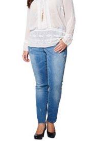 Jeans, Skinny, Blumenstickerei, 5-Pocket-Form