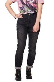 Jeans, Bikerstil, Skinny, Ziernähte an den Knien, 5-Pocket-Form