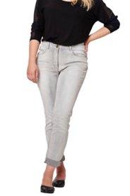 Jeans, modische graue Waschung, Skinny