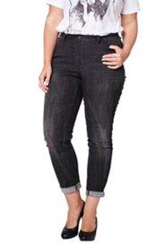 Jeans, Prägedetails auf der Gesäßtasche, Skinny, black denim