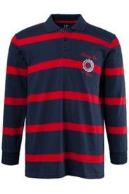 Rugbyshirt, Pikee-Jersey, Langarm, Hemdkragen, elastische Manschetten
