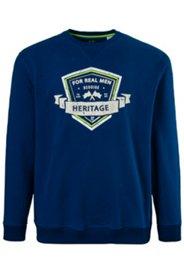 Sweatshirt, Heritage-Motiv, elastische Bündchen, Baumwolle