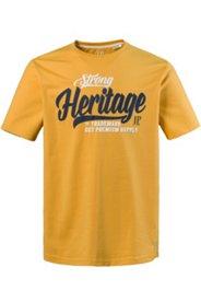 T-Shirt, Rundhalsausschnitt, bequem geschnitten, Heritage-Motiv