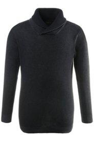Pullover, Schalkragen, dezente Struktur, washed Effekt, Unikat