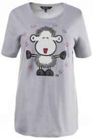 Pyjama-Shirt, Schäfchen-Motiv, Baumwollgemisch