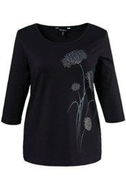 Shirt, Motiv Pusteblume, Ziersteine, Stretchkomfort