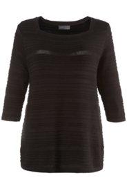 Pullover, Ajour- und Strickmuster, leicht transparent