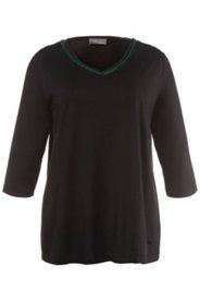 Shirt, Ausschnitt mit Perlenstickerei, Stretchkomfort