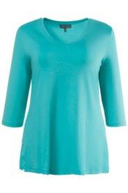 Shirt, elastischer Crêpe-Jersey, Seitenschlitze