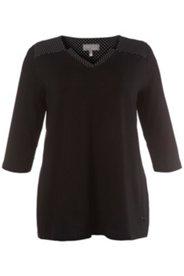 Shirt, Pünktchen-Details, 3/4-Arm, Crêpe-Jersey