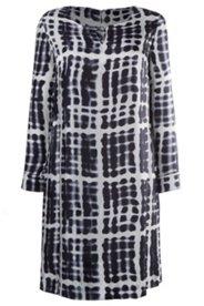 Kleid, Pop-Art-Design, Zierring, Seidenmischung