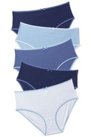 Slips, 5er-Pack, Baumwolle, Stretchkomfort