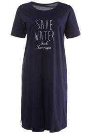 "Bigshirt, Motiv ""Save water - drink champagne"", 100 % Baumwolle"