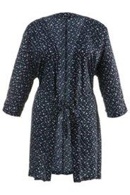 Kimono, Gürtel, Herzmuster, weich fließende Viskose, langarm