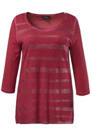 Shirt, Paillettendruck, unregelmäßige Färbung