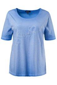 T-Shirt, verschiedene Pailletten-Motive, unregelmäßige Färbung