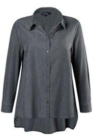 Hemdbluse, A-Linie, hinten verlängert, 100 % Baumwolle