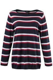 Pullover, Streifenmuster, körpernahe Form