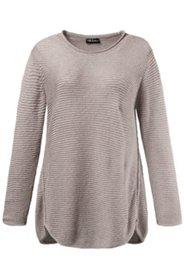 Pullover, schräge Seitennaht, Bändchengarn