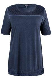 Shirt, Spitzendetails, oil dyed