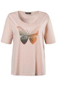T-Shirt, Schmetterlings-Druck, 100 % Baumwolle