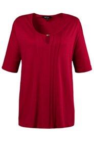 Shirt, Schmuck-Ausschnitt, Biesen, Elasthan