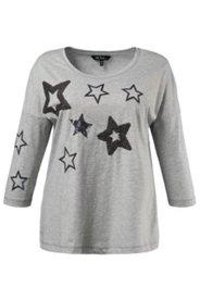 Shirt, Pailletten-Sterne, oversized