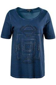 Shirt, Glitzersteine, Ethnomuster, oil dyed