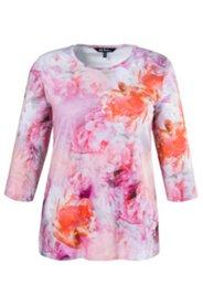 Shirt, Blütendruck, elastischer Jersey