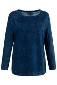 Sweatshirt, Used-Look, U-Boot-Ausschnitt
