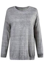 Pullover, Rücken mit Knopfleiste, oil dyed