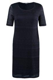 Ajour-Kleid, schmale Form, transparenter Strick