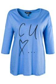 Oversized-Shirt, Schriftzug, 100 % Baumwolle