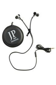 Kopfhörer DEB, In-Ear, Reißverschluss-Look, inkl. Etui, One Size