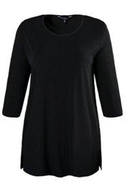 Long-Shirt, 3/4-Ärmel, Rundhalsausschnitt