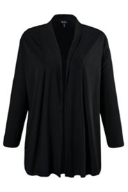 Shirt-Jacke, offene Form, Schalkragen