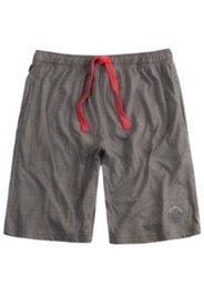 Schlafanzug-Bermuda, Elastikbund, zwei Taschen, Druck am Bein, Baumwolle