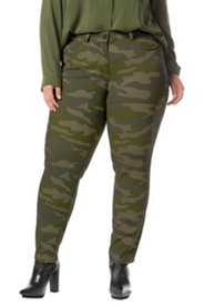 Verkürzte Cammouflage-Jeans, Skinny, 5 Pocket