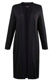 Cardigan, lange, offene Form, seitliche Nahttaschen