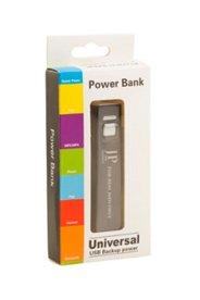 Powerbank, USB-Kabel, 2600 mAh