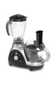 CLATRONIC Küchenmaschine mit Mixaufsatz, silber/schwarz