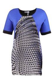 Shirt mit geometrischem Muster, Raglanärmel