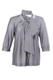 Seiden-Tunika mit Schal zum Einknöpfen